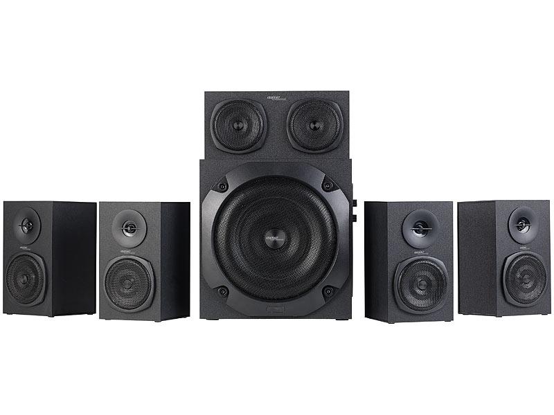 auvisio 5 1 soundsystem analoges 5 1 lautsprecher system f r pc tv dvd beamer co 120 w. Black Bedroom Furniture Sets. Home Design Ideas
