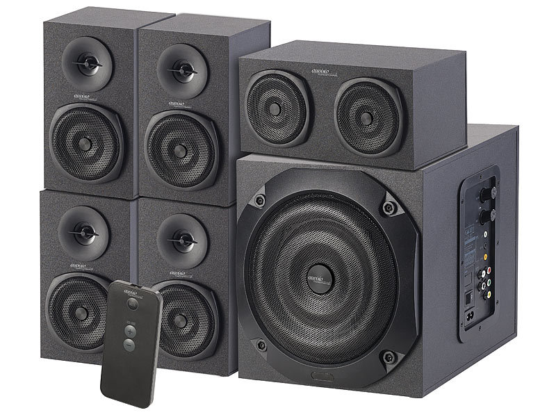auvisio soundsystem analoges 5 1 lautsprecher system f r. Black Bedroom Furniture Sets. Home Design Ideas