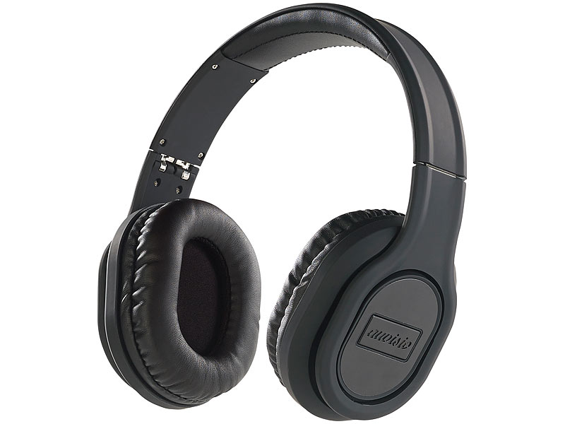 auvisio kabelloser kopfh rer faltbares over ear headset. Black Bedroom Furniture Sets. Home Design Ideas