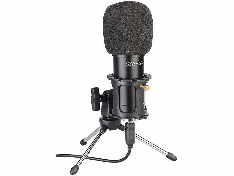 Profi Mikrofon USB Kondensatormikrofon Mikrophon Mini für PC//Laptop Live Youtube