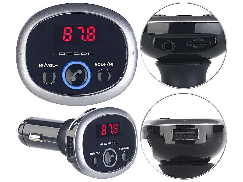 auvisio Auto Bluetooth: MP3-FM-Transmitter mit Bluetooth ...