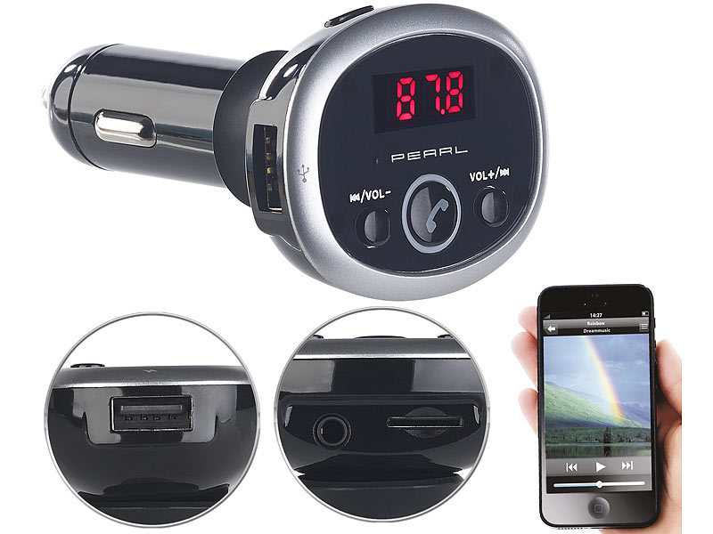 auvisio bluetooth auto mp3 fm transmitter mit bluetooth. Black Bedroom Furniture Sets. Home Design Ideas