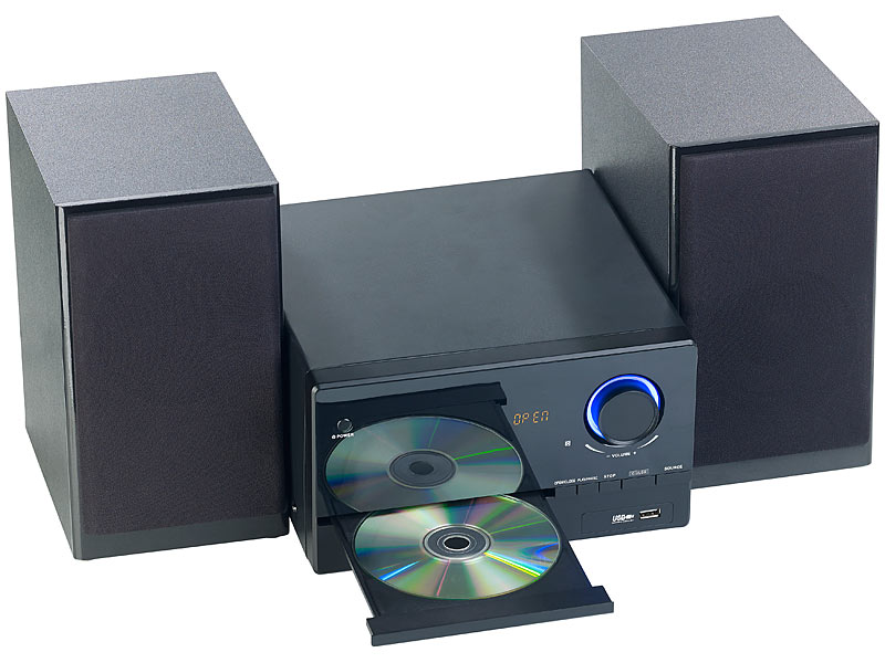 auvisio mini stereoanlage micro stereoanlage cd player. Black Bedroom Furniture Sets. Home Design Ideas