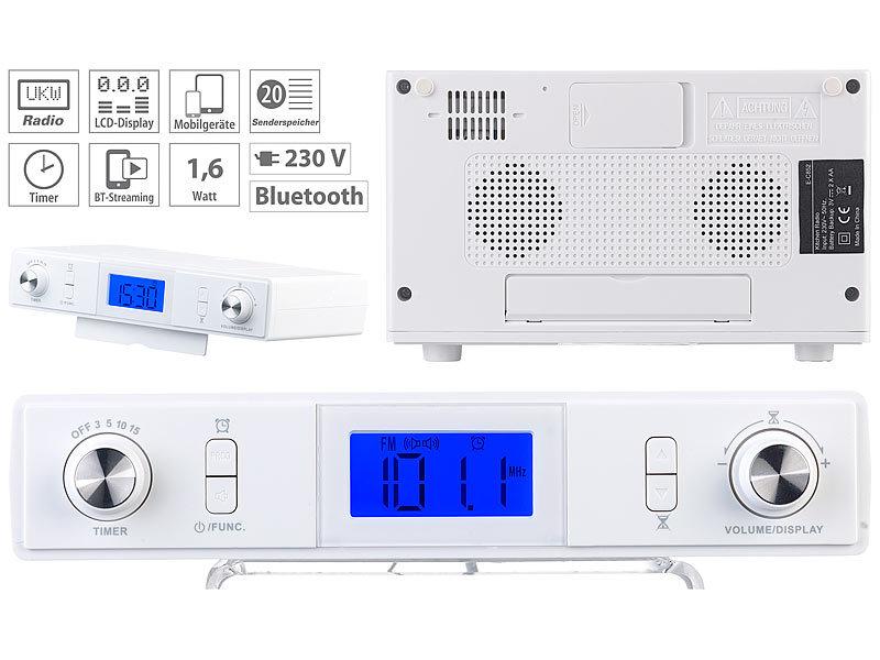 auvisio Unterbau Küchenradio: Stereo-FM-Küchen-Unterbauradio mit ...