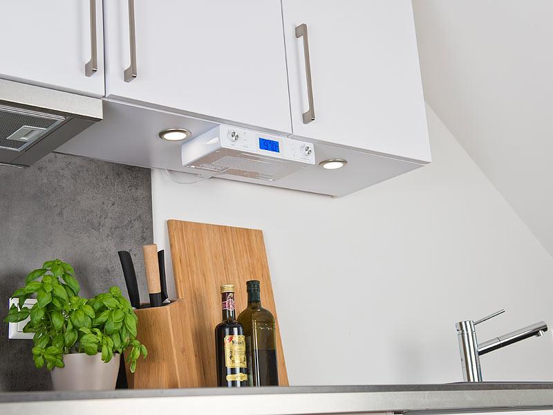 auvisio Küchenradio: Stereo-FM-Küchen-Unterbauradio mit Bluetooth