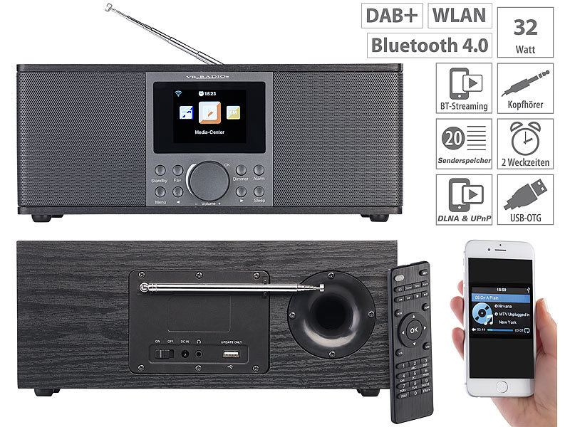 vr radio dab internet radio stereo internetradio mit dab. Black Bedroom Furniture Sets. Home Design Ideas