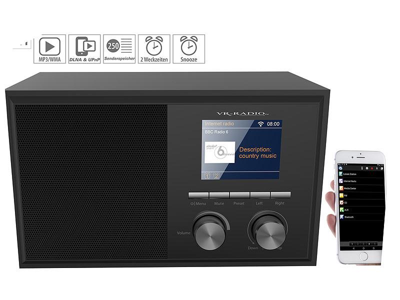 VR-Radio WLAN Internetradios: WLAN-Internetradio mit 2 Weckzeiten ...