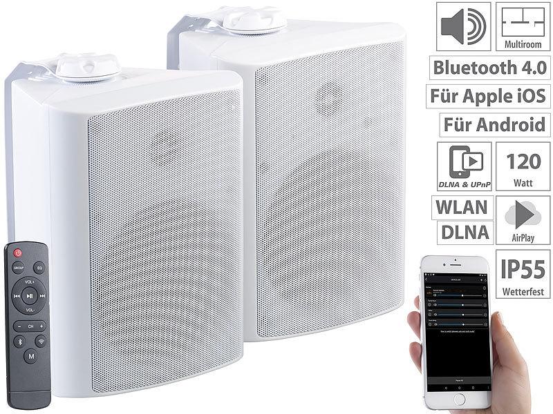 auvisio Aussenlautsprecher: Aktiv-Multiroom-Stereo-Außen ...
