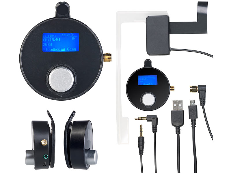 auvisio dab adapter dab dab empf nger mit fm transmitter. Black Bedroom Furniture Sets. Home Design Ideas