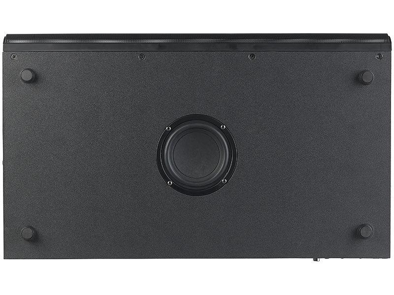 auvisio soundbar 2 1 soundbase mit integriertem subwoofer. Black Bedroom Furniture Sets. Home Design Ideas