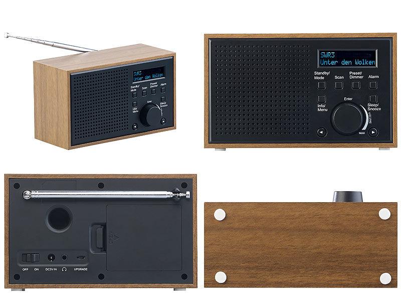 vr radio radiowecker digitales dab fm radio mit wecker. Black Bedroom Furniture Sets. Home Design Ideas