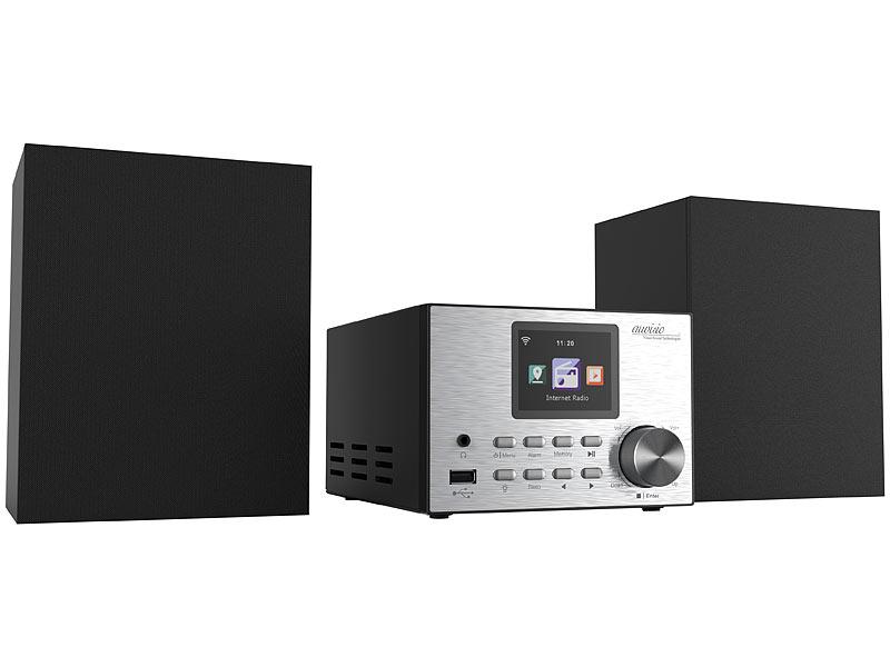 auvisio internetradio micro stereoanlage mit webradio. Black Bedroom Furniture Sets. Home Design Ideas