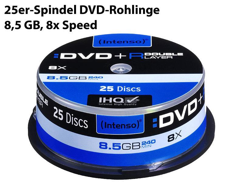 intenso dvd r 8 5gb 8x double layer 25er spindel. Black Bedroom Furniture Sets. Home Design Ideas