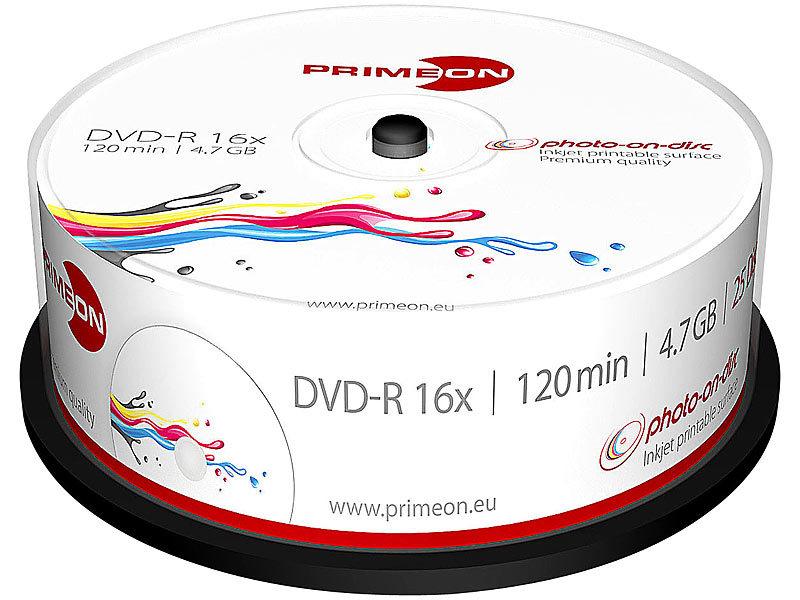 primeon dvd r 4 7 gb 16x bedruckbar 25er box. Black Bedroom Furniture Sets. Home Design Ideas