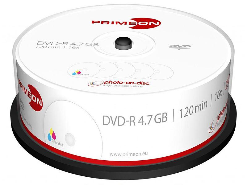picture regarding Printable Dvd Rohlinge named PRIMEON DVD Rohlinge: DVD-R, 4.7 GB, 16x, picture-upon-disc