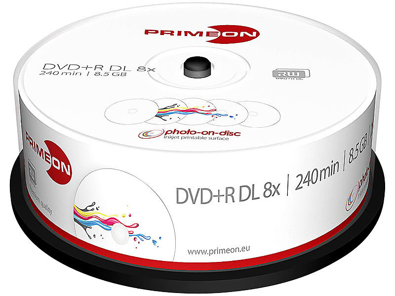 primeon dvd r double layer 8 5gb 8x photo on disc. Black Bedroom Furniture Sets. Home Design Ideas