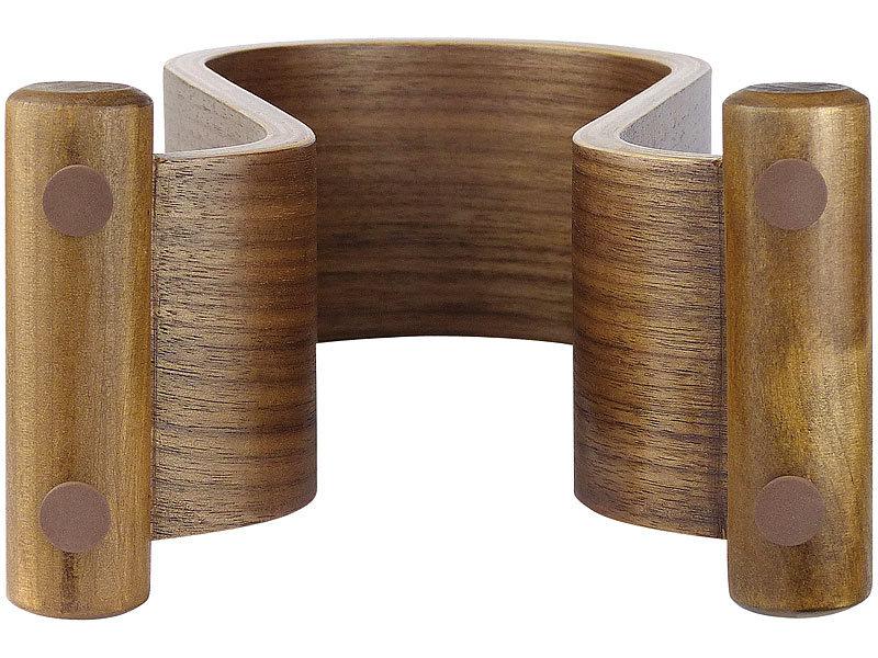 dynavox eleganter kopfh rer st nder kh 500 holz in walnuss optik. Black Bedroom Furniture Sets. Home Design Ideas