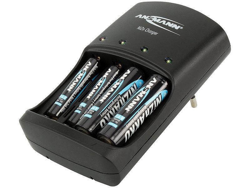 aufgeladene batterien in ladegerät lassen