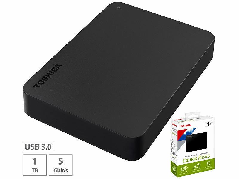 toshiba harddisk canvio basics externe festplatte 2 5 1. Black Bedroom Furniture Sets. Home Design Ideas
