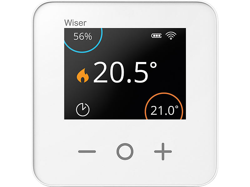 eberle raumtemperaturregler kabelloser raum thermostat f r wiser lcd display. Black Bedroom Furniture Sets. Home Design Ideas