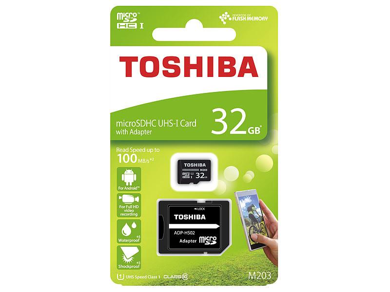 Mini Sd Karte 32gb.Toshiba Micro Sd Karte Microsdhc Speicherkarte M203 32 Gb