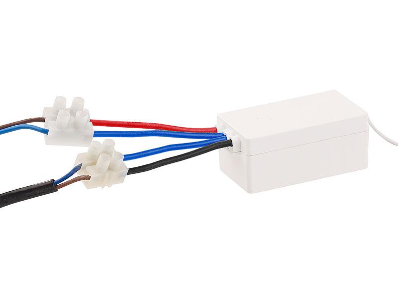 revolt lichtschalter ohne kabel funkempf nger f r. Black Bedroom Furniture Sets. Home Design Ideas