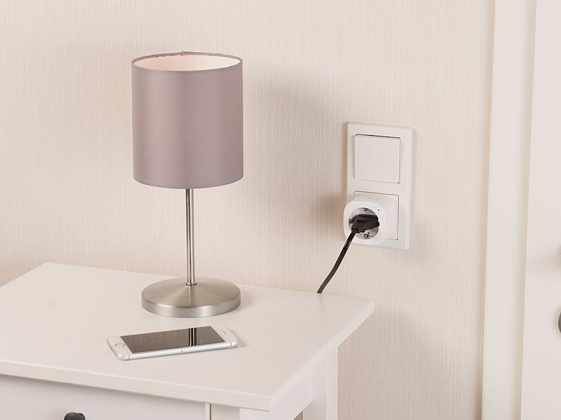 luminea wlan steckdose weltweite app steuerung komp zu. Black Bedroom Furniture Sets. Home Design Ideas