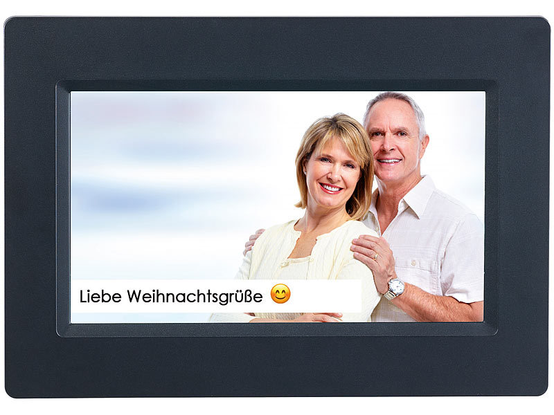 Somikon Digitaler Photoframe: WLAN-Bilderrahmen mit 17,8-cm-IPS ...