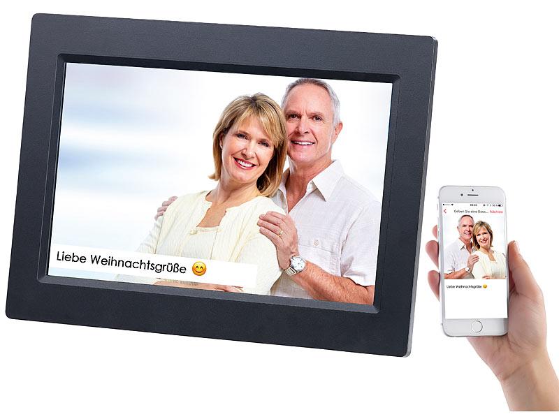 Somikon Digitaler Bilderrahmen: WLAN-Bilderrahmen mit 25,7-cm-IPS ...