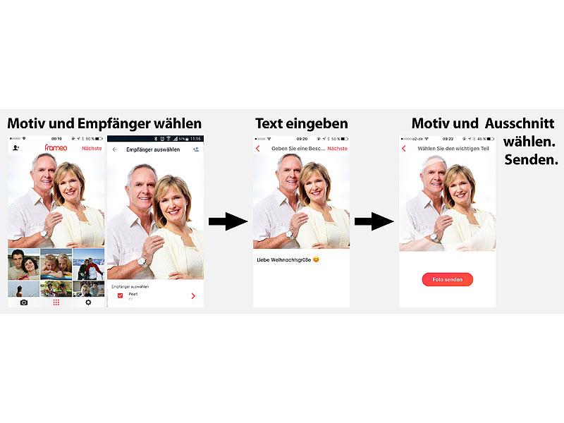 Somikon Digitale Bilderrahmen: WLAN-Bilderrahmen mit 17,8-cm-IPS ...