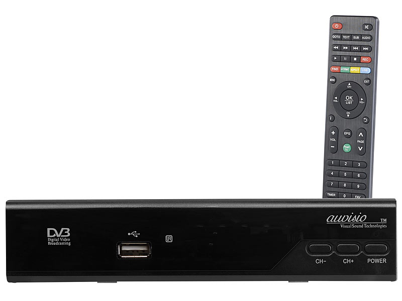 Digitaler pearl.tv HD-Sat-Receiver (DVB-S/S2), HDMI, Scart, COAX
