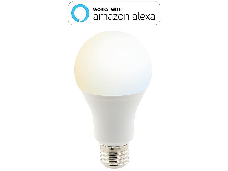 luminea led deckenlampen 3er set wlan led lampen amazon alexa google assistant komp e27. Black Bedroom Furniture Sets. Home Design Ideas