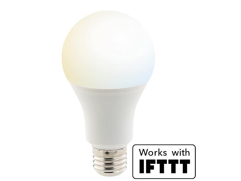 Luminea Home Control Smart Bulb: WLAN-LED-Lampe, komp. zu Amazon ...