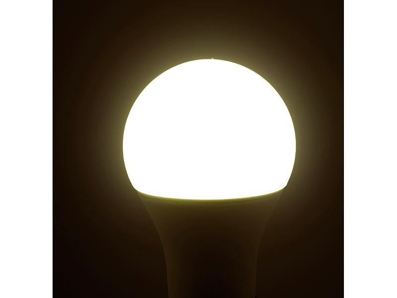 luminea wlan gl hbirne wlan led lampe komp mit alexa voice service e27 rgbw 10 watt a. Black Bedroom Furniture Sets. Home Design Ideas