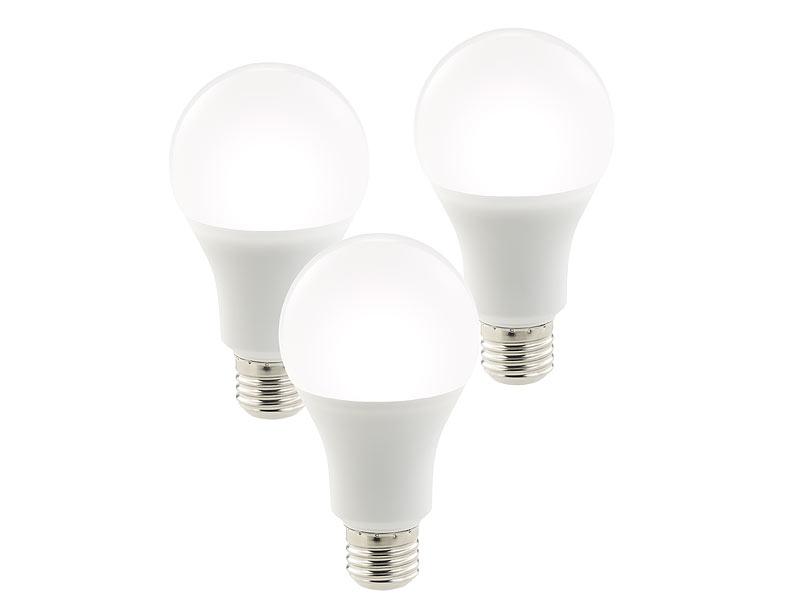 luminea 3er set wlan led lampen komp mit alexa voice service 10 w wei a. Black Bedroom Furniture Sets. Home Design Ideas