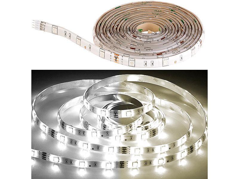 luminea ledstrips led streifen lat 212 2 m 400 lumen warm kaltwei dimmbar ip44 led. Black Bedroom Furniture Sets. Home Design Ideas