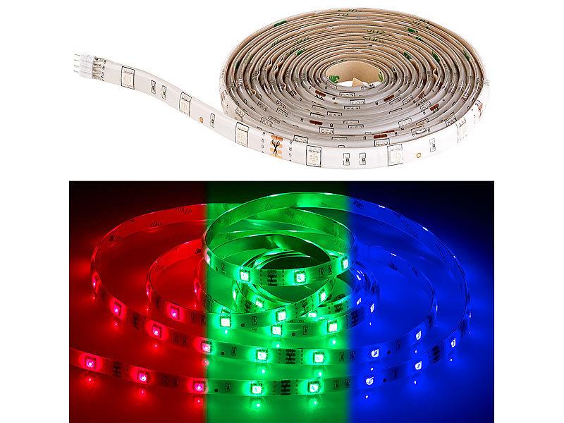 luminea rgb led streifen lac 515 5 meter 150 leds. Black Bedroom Furniture Sets. Home Design Ideas