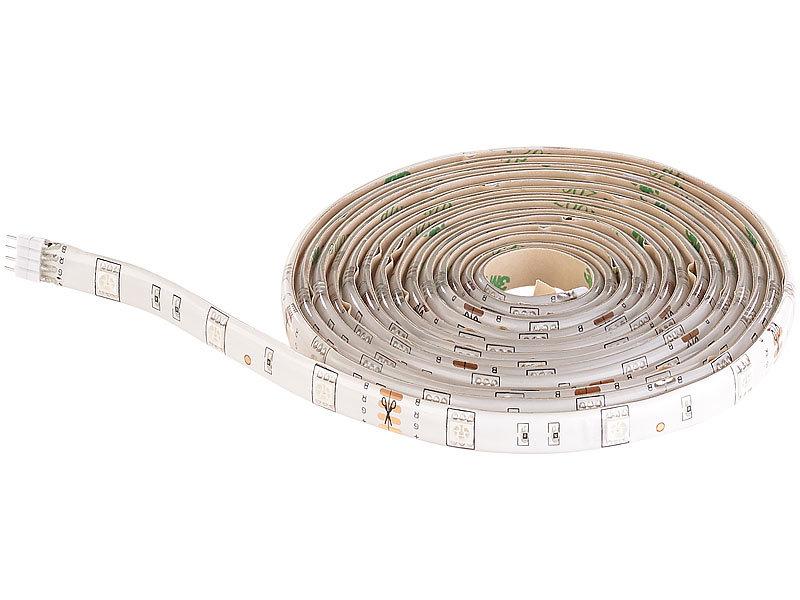 luminea led smd streifen lichter led streifen lak 206 2 m 600 lumen tageslichtwei dimmbar. Black Bedroom Furniture Sets. Home Design Ideas