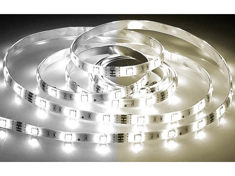 luminea led stripe sets led streifen lat 530 5 m 800 lumen warm kaltwei dimmbar ip44. Black Bedroom Furniture Sets. Home Design Ideas