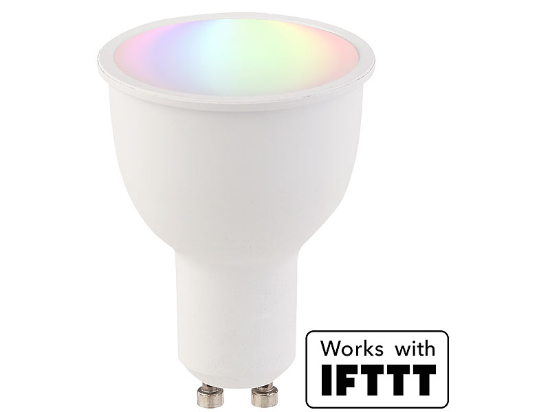 luminea home control funk lampen wlan led lampe komp mit amazon alexa google assistant. Black Bedroom Furniture Sets. Home Design Ideas