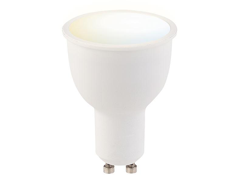 luminea home control led gu10 dimmbar wlan led lampe komp zu amazon alexa google assistant. Black Bedroom Furniture Sets. Home Design Ideas