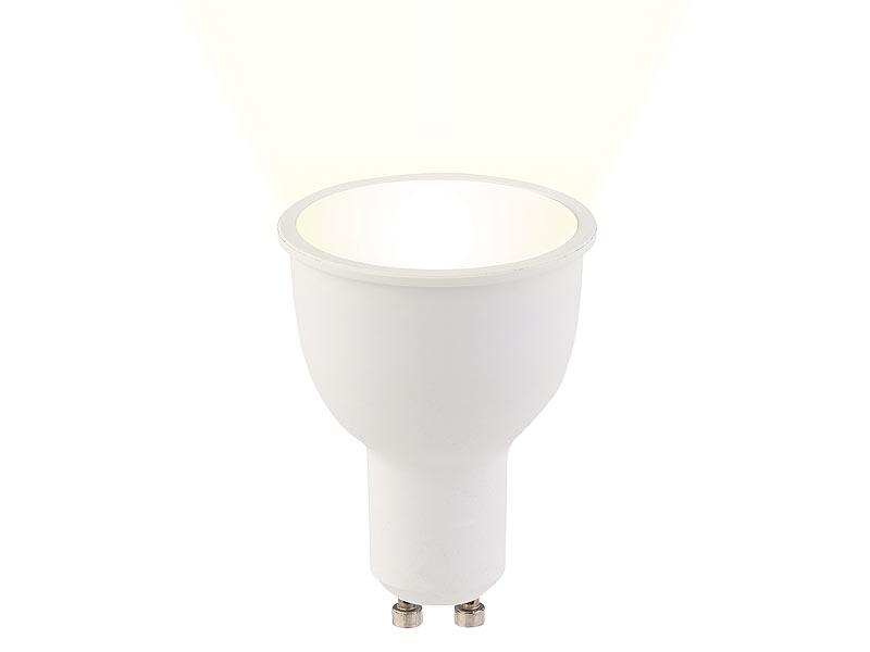 Luminea 3er-Set WLAN-LED-Lampen GU10, komp. mit Alexa, warmweiß, 4,5 ...