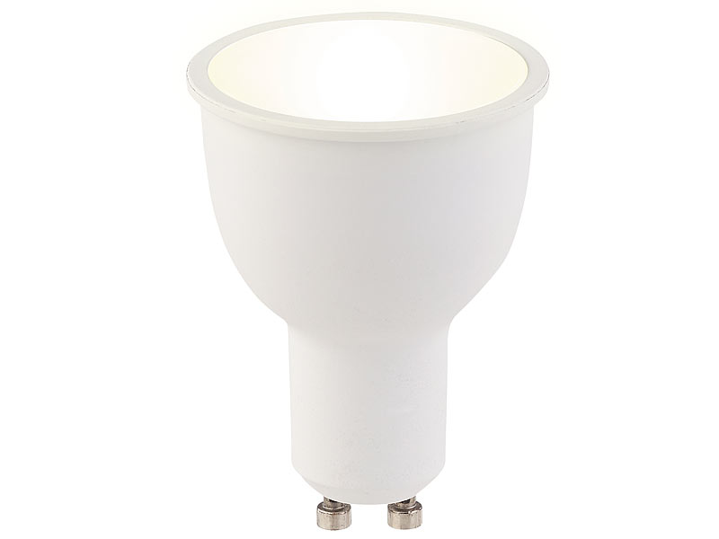 Luminea 3er-Set WLAN-LED-Lampen GU10, komp. mit Alexa, warmweiß, 4 ...