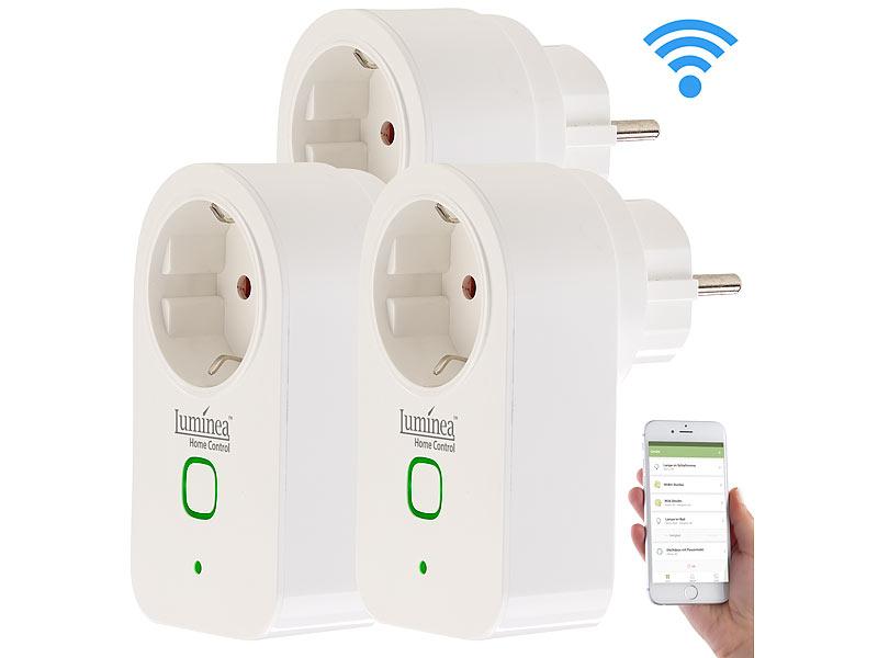 smart steckdose 3er set wlan steckdosen app steuerung komp zu alexa voice service wifi. Black Bedroom Furniture Sets. Home Design Ideas