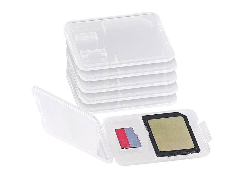 merox speicherkarten boxen speicherkartenbox f r sd minisd microsd mmc karten 6er set. Black Bedroom Furniture Sets. Home Design Ideas