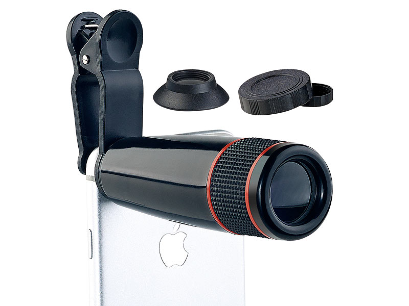 Somikon teleobjektiv für handy smartphone vorsatz tele objektiv