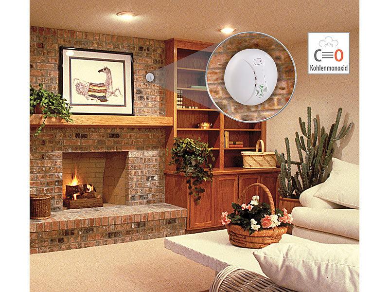 visortech co2 melder kohlenmonoxid melder mit batterie din en 50291 1 85 db gaswarnmelder. Black Bedroom Furniture Sets. Home Design Ideas