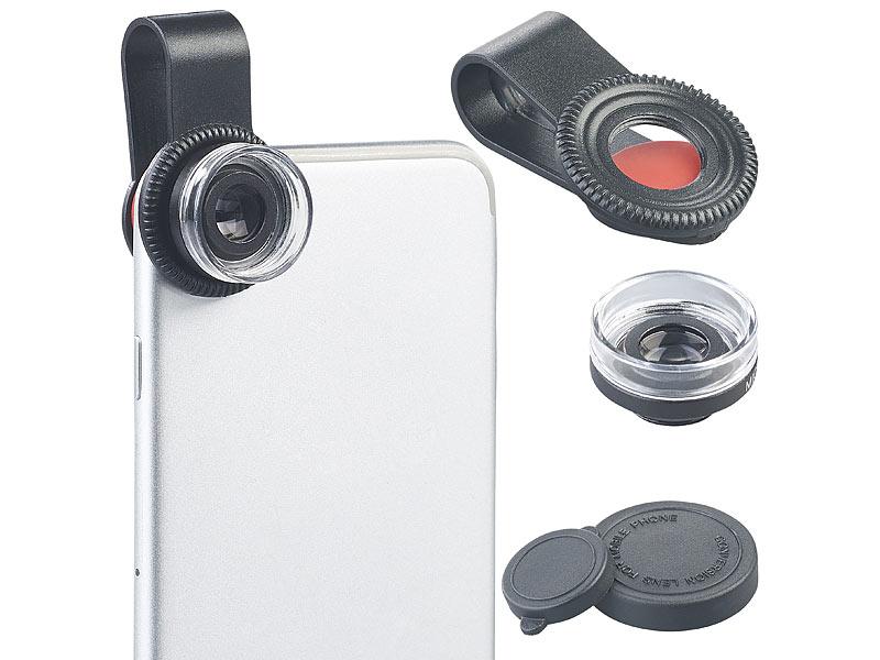 Somikon makrolinse: mikroskop vorsatzlinse cvl 30 für smartphones
