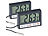 infactory 2er Pack Digitales Aquarium-Thermometer mit Uhrzeit und LCD-Display infactory Aquariums-Thermometer