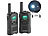 simvalley communications 2er-Set PMR-Funkgeräte mit VOX, bis 10 km Reichweite, LED-Taschenlampe simvalley communications Walkie-Talkies